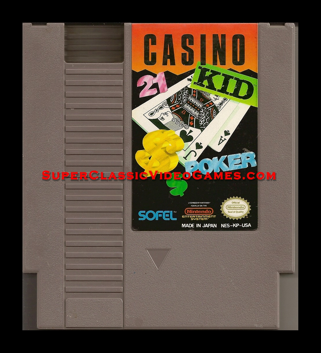 Casino Kid NES cartridge