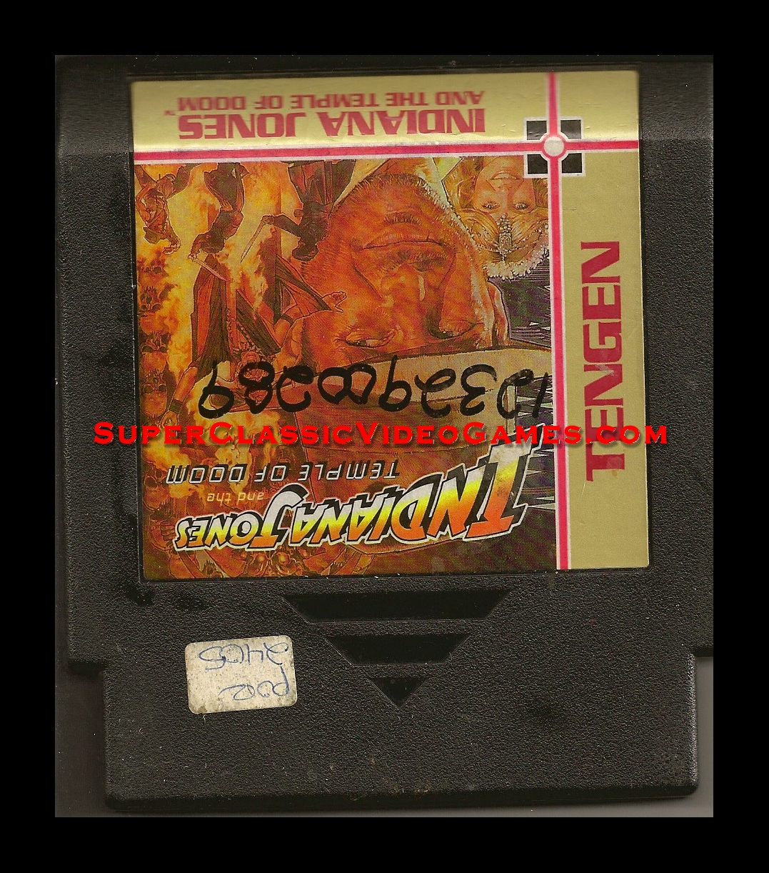 indiana jones nes cartridge