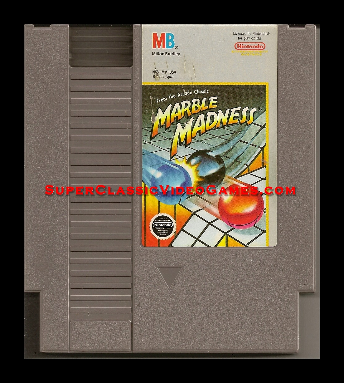 marble madness nes cartridge