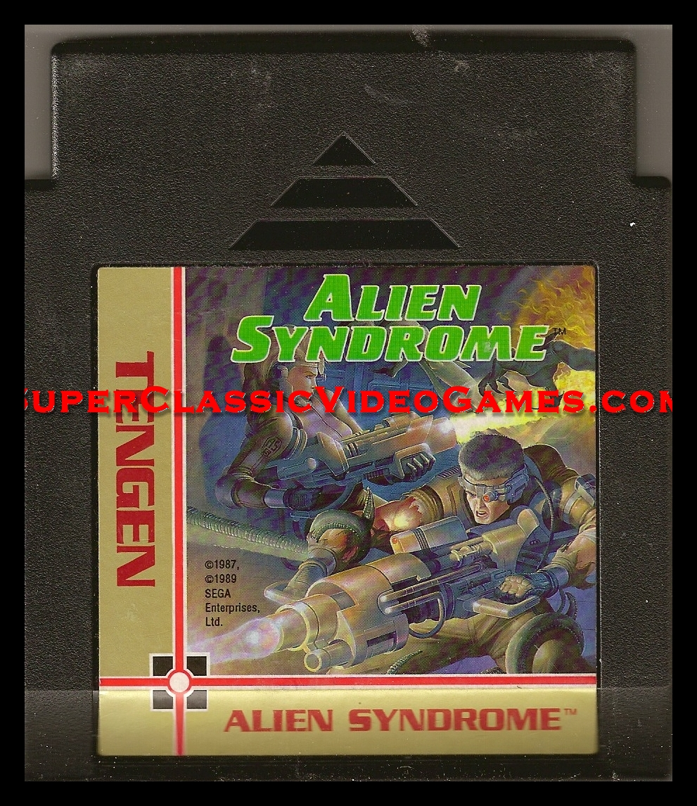 Alien Syndrom Nintendo NES cartridge