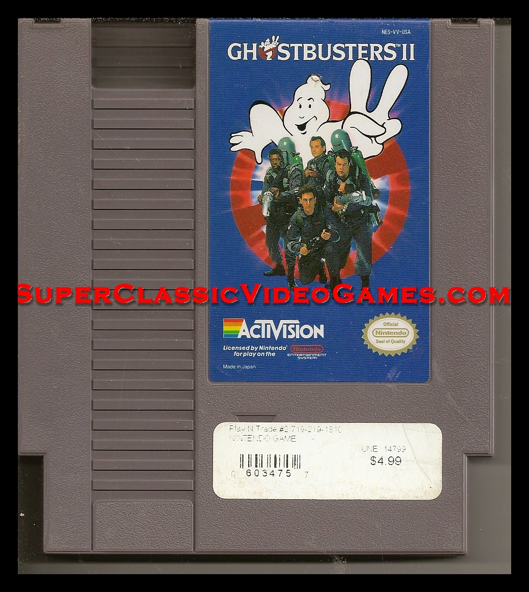 Ghost Busters 2 Nintento NES cartridge
