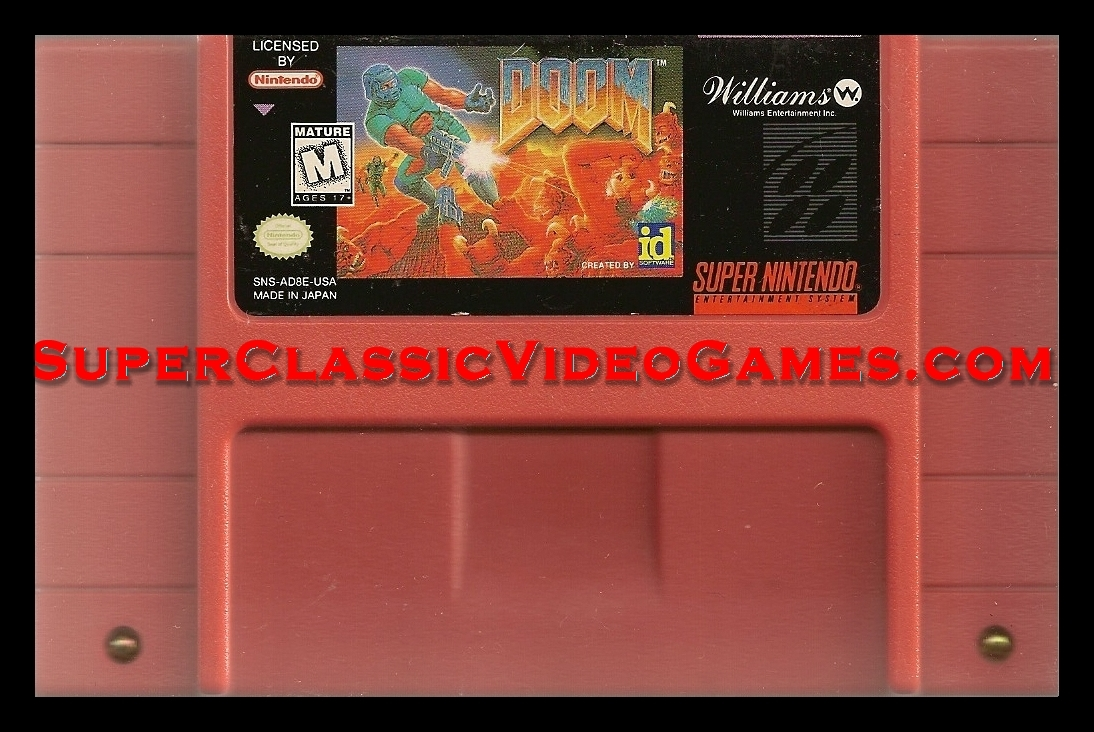 Doom SNES cartridge for sale.