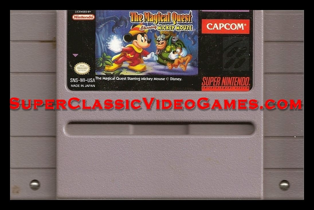Magical quest mickey mouse cartridge for sale.