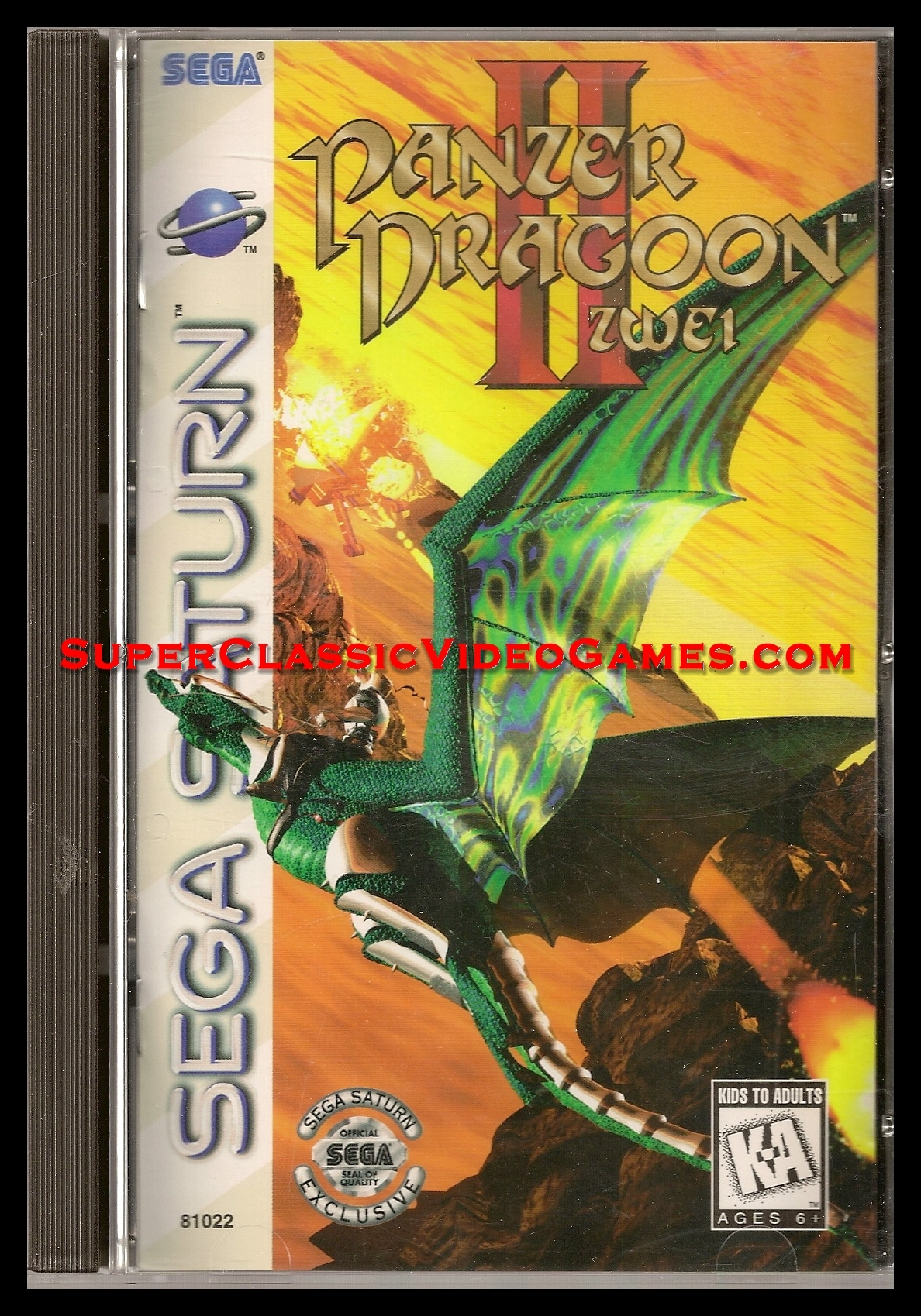 Panzer Dragoon II Zwei Sega Saturn Game